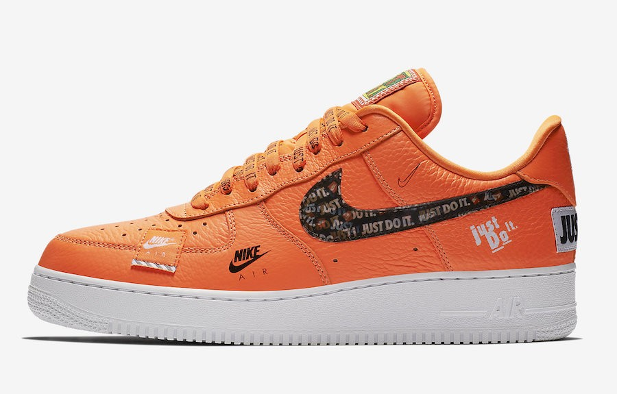 "Nike Air Force 1 '07 PRM ""Just Do It"" (Naranjas/Negras/Blancas) AR7719-800"