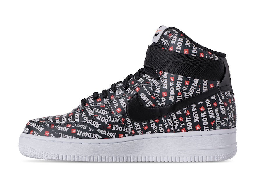 "Nike Air Force 1 High ""Just Do It"" (Negras/Blancas/Naranjas) AR7719-001"