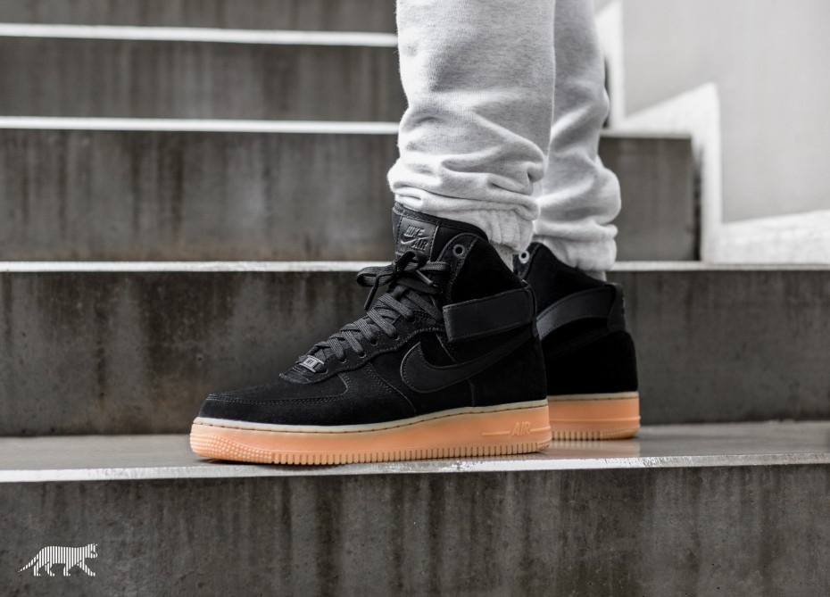 Nike Air Force 1 Hi '07 LV8 Suede (Negras/Marrones/Ivory) AA1118-001