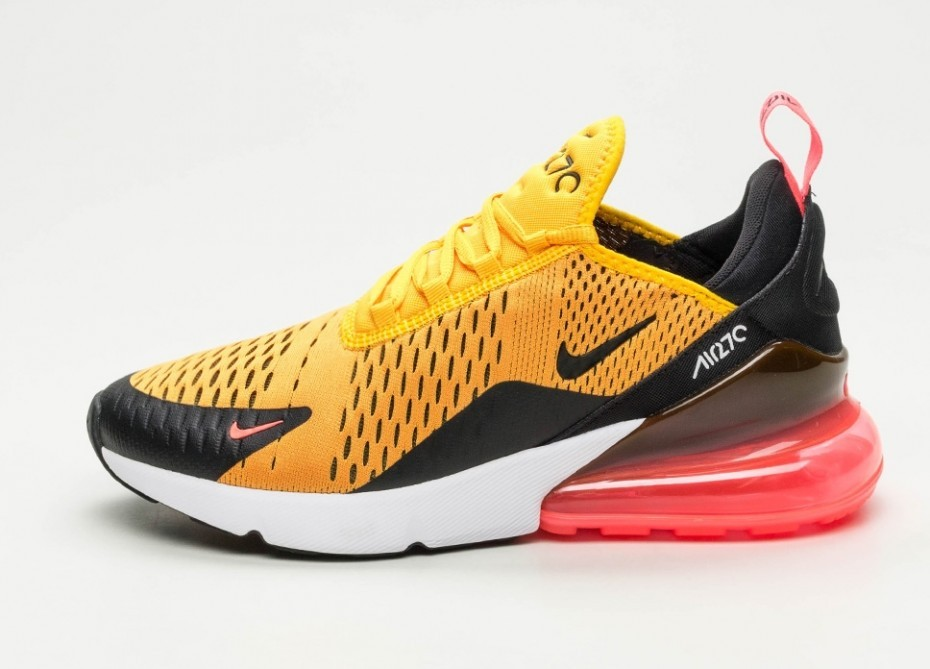 Nike Air Max 270 (Negras/Oro/Hot Punch/Blancas) AH8050-004