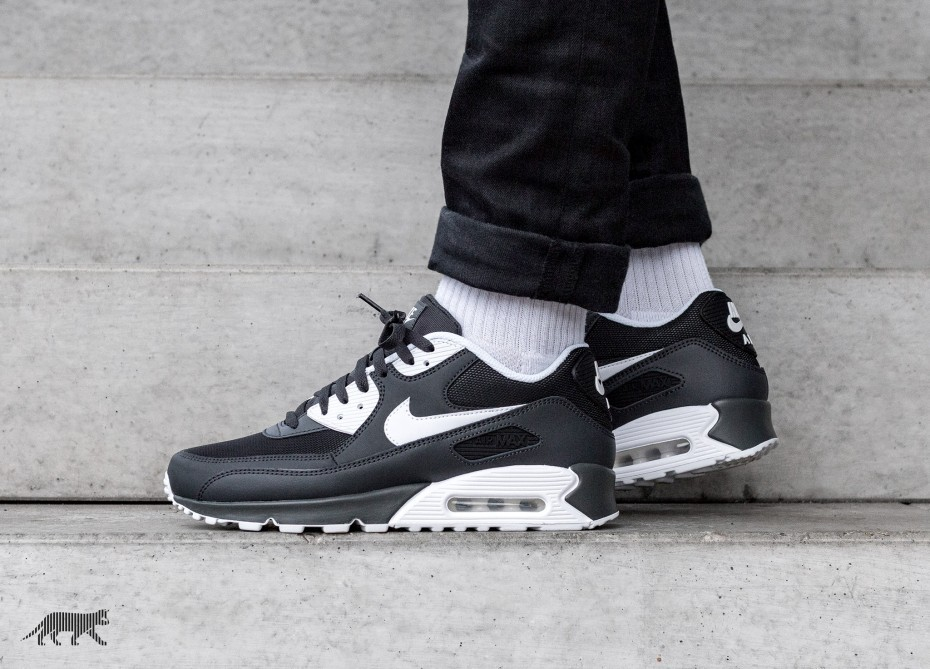 Nike Air Max 90 Essential (Anthracite/Blancas/Negras) 537384-089