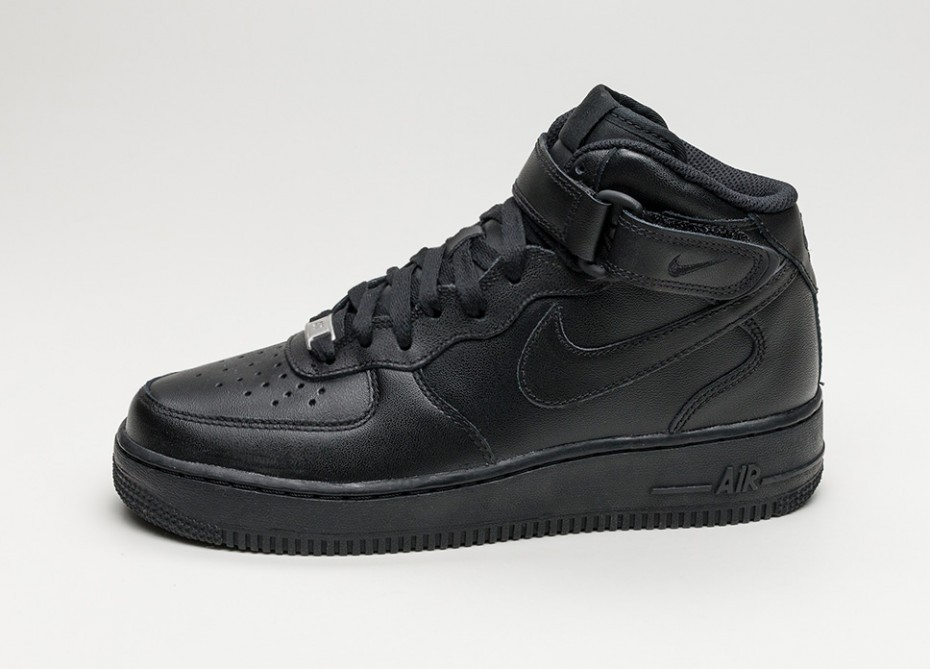 Nike Mujer Air Force 1 '07 Mid (Negras/Negras) 366731-001