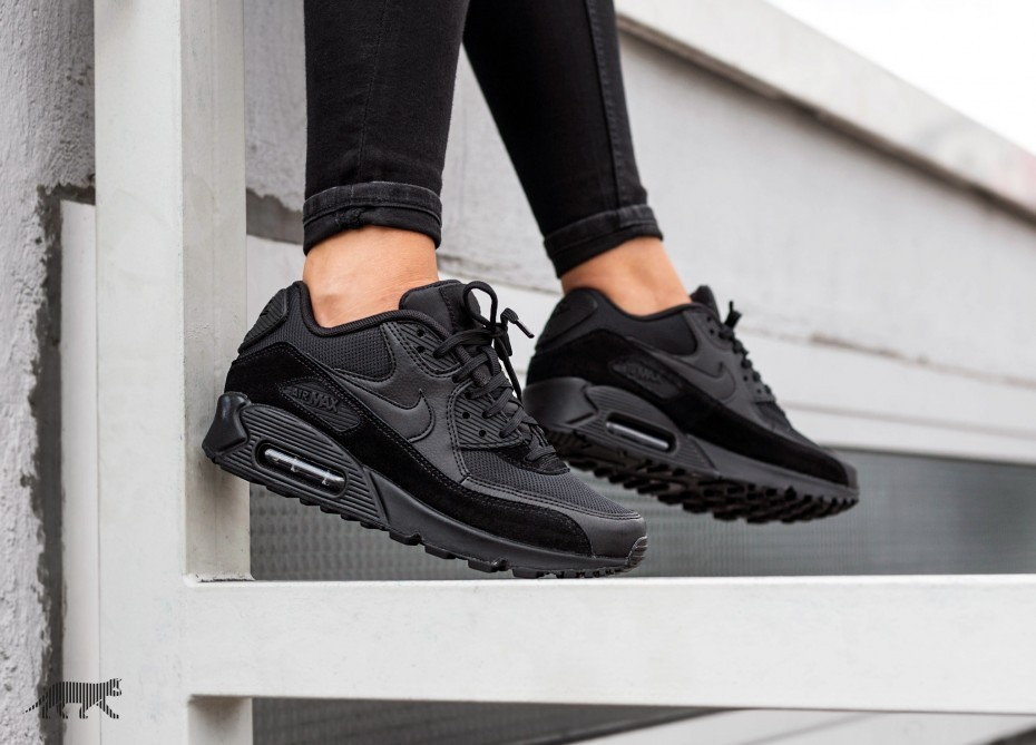 Nike Mujer Air Max 90 (Negras/Negras) 325213-043