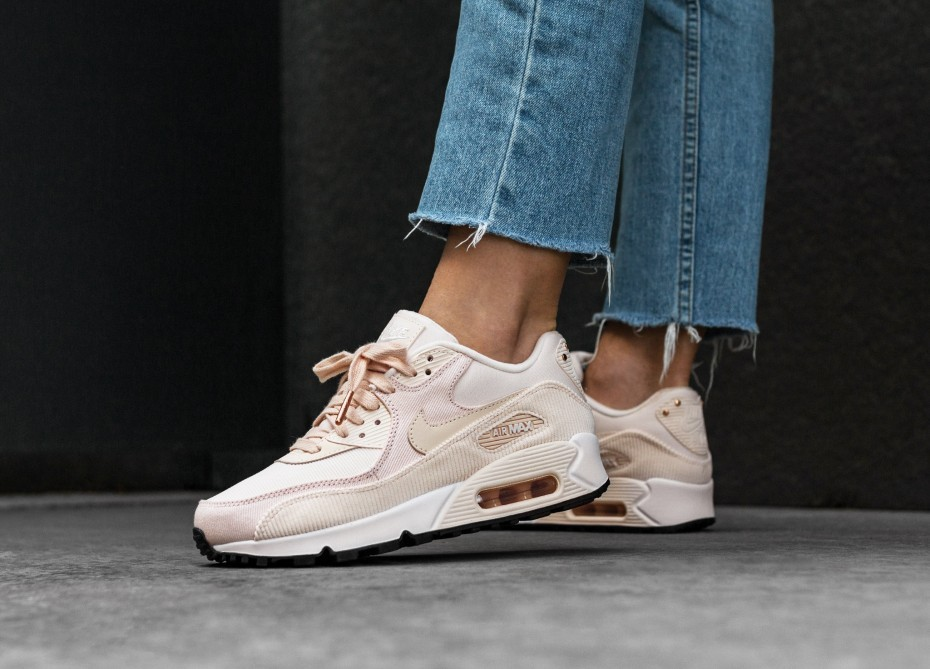 Nike Mujer Air Max 90 LEA (Guava Ice/Negras/Blancas) 921304-800