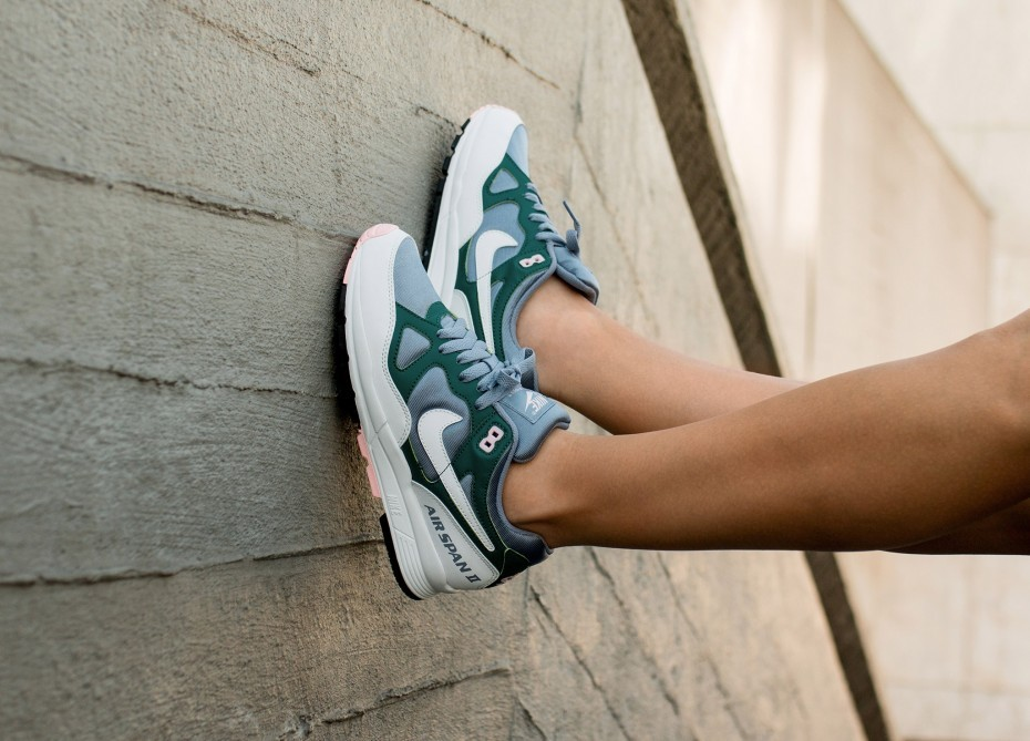 Nike Mujer Air Span II (Ashen Slate/Blancas/Rainforest) AH6800-401