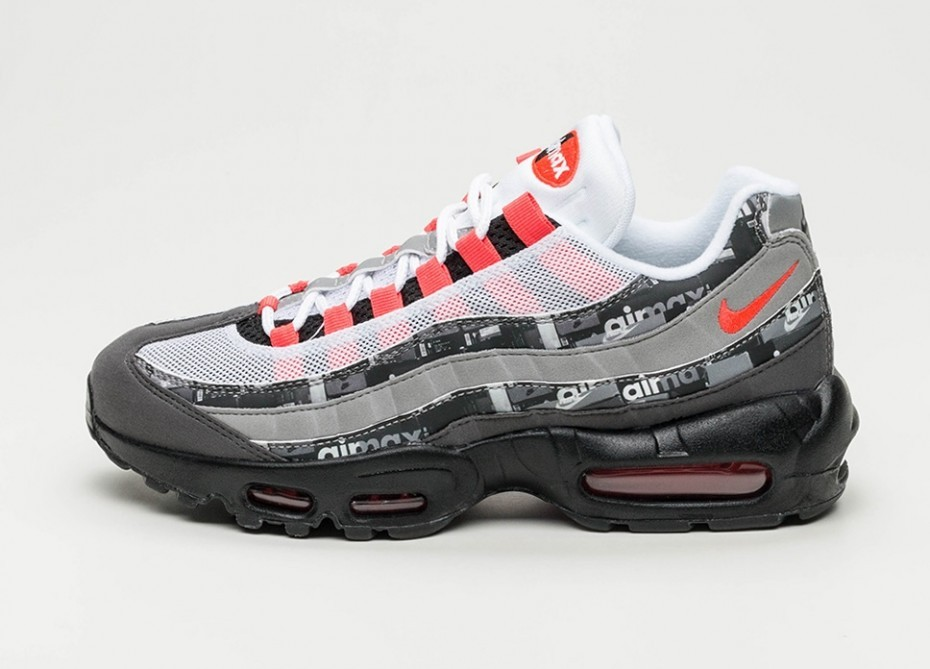 Nike x Atmos Air Max 95 Print *We Love Nike* (Negras/Bright Crimson) AQ0925-002
