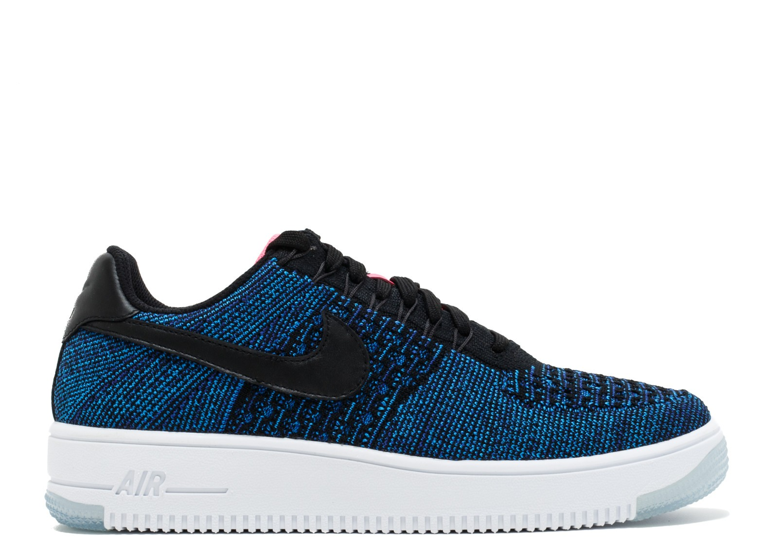 Nike Mujer Air Force 1 Flyknit Low (Negras/Azul/Rosas) 820256-003