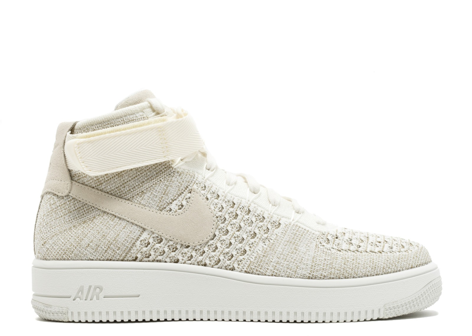 Nike Air Force 1 Mid Flyknit (Sail/Sail/Grises) 817420-101