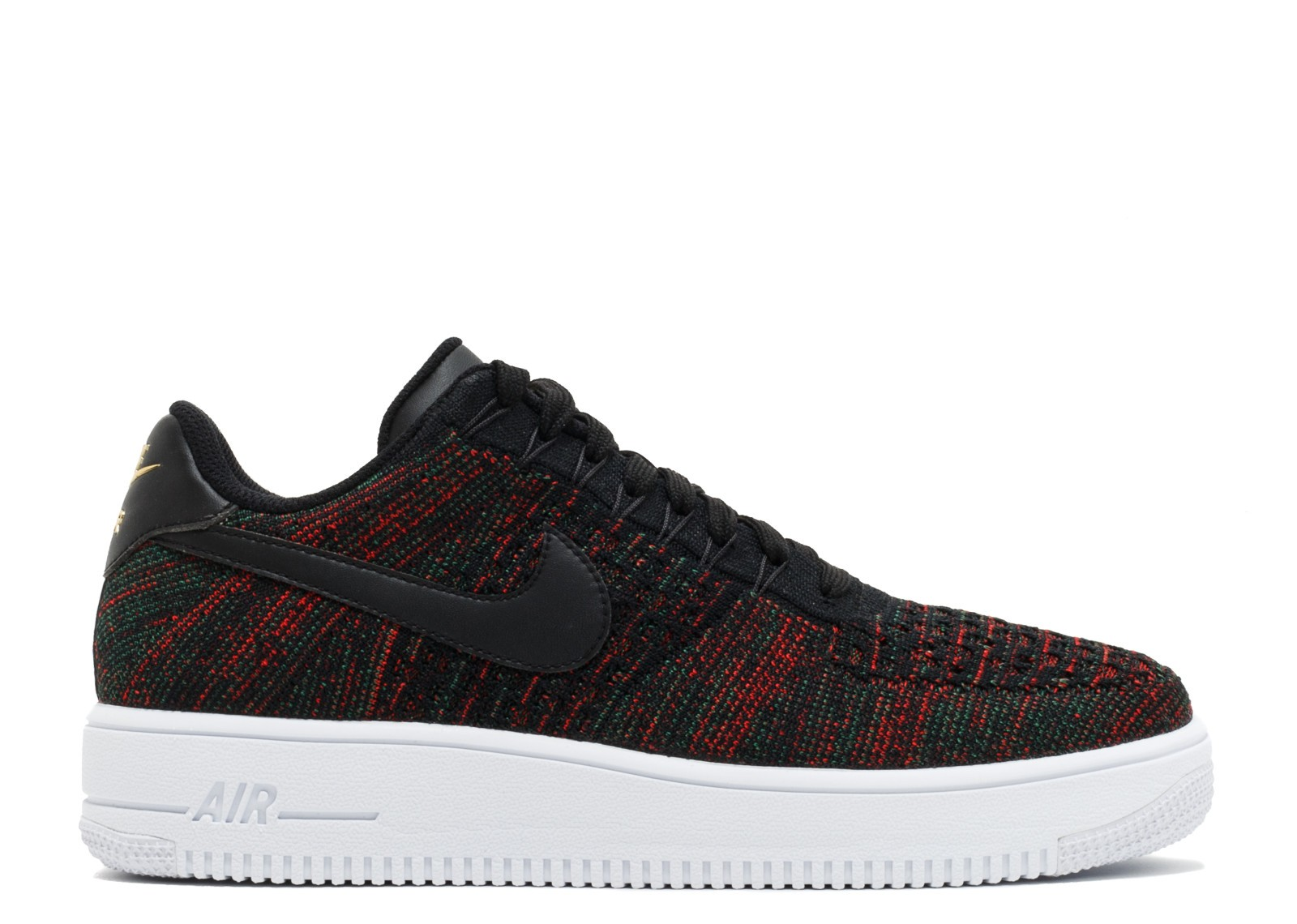 Nike Hombre AF1 Ultra Flyknit Low (Negras/Metallic Gold) 817419-005