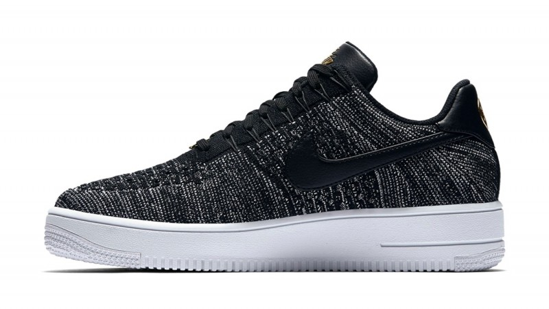 "Nike Air Force 1 Flyknit Low ""Quai 54"" (Negras/Blancas/Negras) 853880-001"