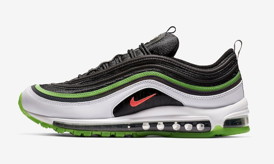 "Nike Air Max 97 ""Dallas"" (Negras/Blancas-Verde) CD7788-001"