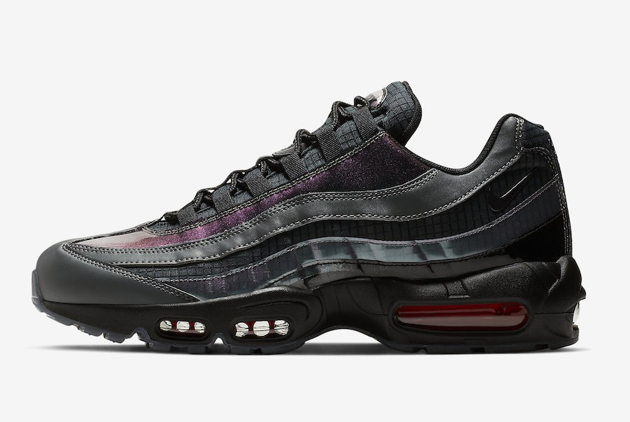 Nike Air Max 95 LV8 (Negras/Ember Glow-Grises oscuro) AO2450-001