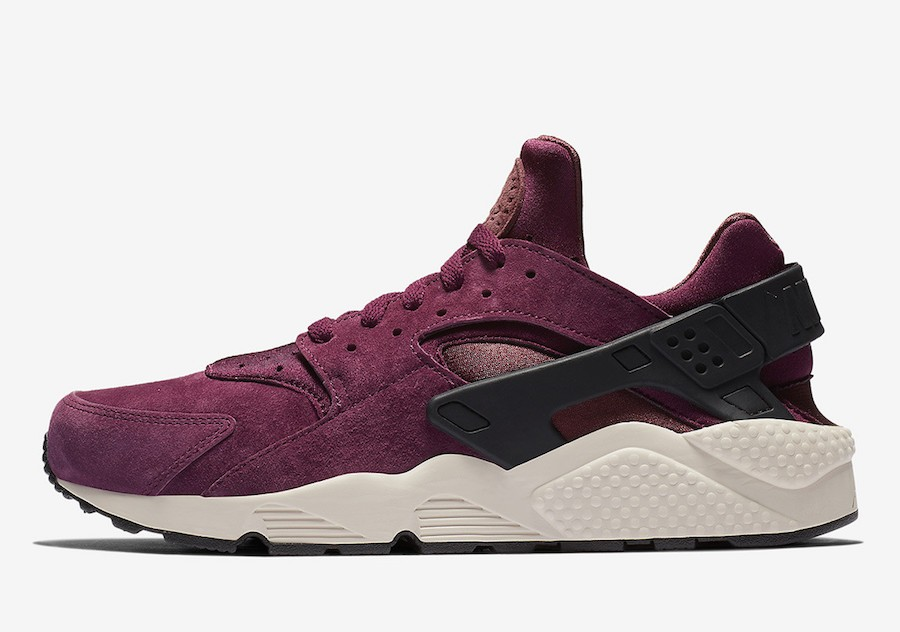 Nike Air Huarache Premium (Bordeaux/Light Bone-Negras-Negras) 704830-603