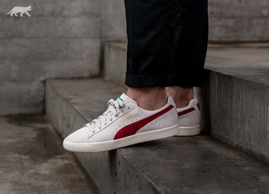 Puma Clyde *From the Archive* (Grises/Rojas) 365319-01