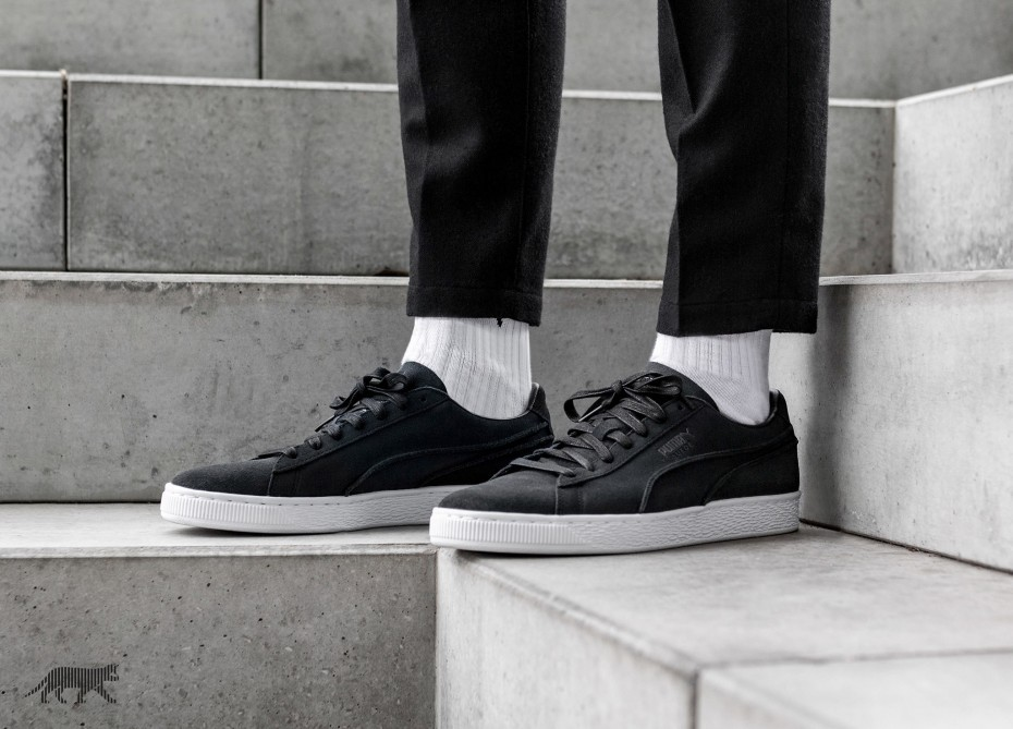 Puma Suede Classic Exposed Seams (Negras) 365348-01
