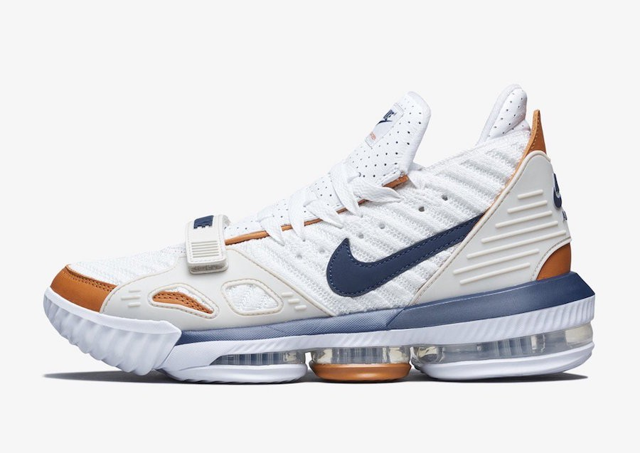 "Nike LeBron 16 ""Air Trainer"" (Blancas/Midnight Navy/Ginger) CD7089-100"