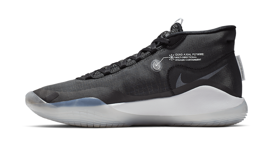 "Nike KD 12 ""The Day One"" (Negras/Pure Platinum/Blancas) AR4229-001"