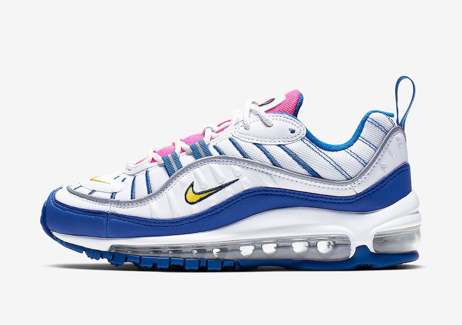 Nike Air Max 98 (Blancas/Amarillas-Indigo Force) BV4872-101