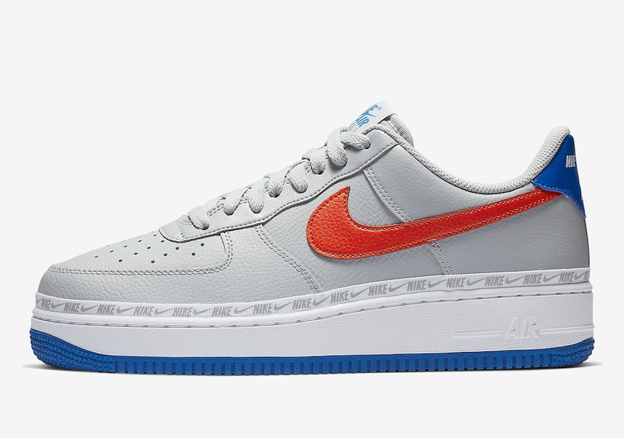 Nike Air Force 1 Low (Grises/Rojas-Game Royal) CD7339-001