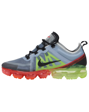 Nike Air VaporMax 2019 (Pure Platinum/Negras/Volt/Bright Crimson) AR6631-007