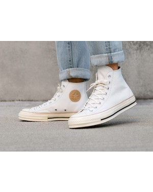 Converse Chuck Taylor All Star '70 Hi (Blancas/Light Fawn/Egret) 162393C