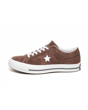 Converse One Star Ox (Chocolate/Blancas/Blancas) 162573C