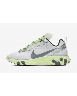 Nike React Element 55 (Pure Platinum/Volt/Volt/Grises) CT2546-001