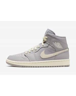 Air Jordan 1 Mid Mujer (Grises claro/Light Bone) CD7240-002