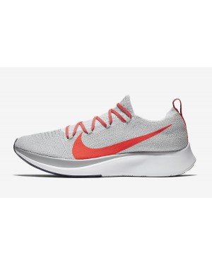 Nike Zoom Fly Flyknit (Pure Platinum/Bright Crimson) AR4561-044