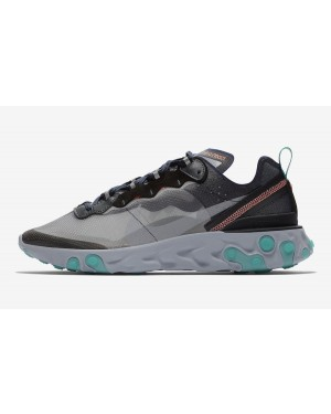Nike React Element 87 (Negras/Verde/Bright Mango) AQ1090-005