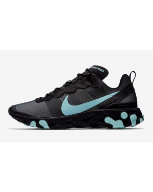 Nike React Element 55 (Negras/Verde/Grises) BQ6166-004