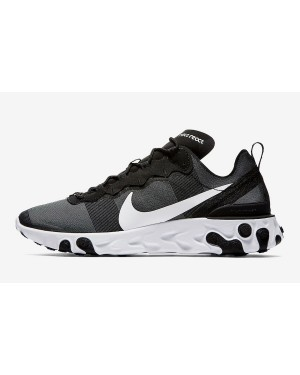 Nike React Element 55 (Negras/Blancas) BQ6166-003