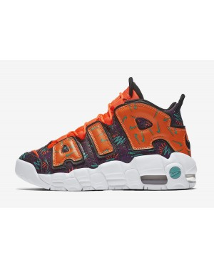 "Nike Air More Uptempo GS ""What The 90s"" (Naranjas/Negras/Hyper Jade) AT3408-800"