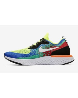 "Nike Epic React Flyknit ""Belgium"" (Volt/Blancas/Azul/Clear Emerald) AT0054-700"