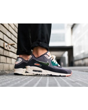 Nike Air Max 90 PRM SE (Grises/Rainforest/Light Cream) 858954-002