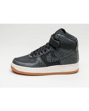 Nike Mujer Air Force 1 Hi PRM (Negras/Marrones/Sail) 654440-009
