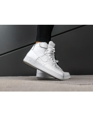 Nike Mujer Air Force 1 High (Blancas/Blancas) 334031-105