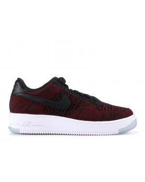Nike Mujer Air Force 1 Flyknit Low (Negras/Rojas/Clear Jade) 820256-002