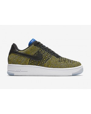 Nike Mujer Air Force 1 Flyknit Low (Negras/Azul/Azul) 820256-004