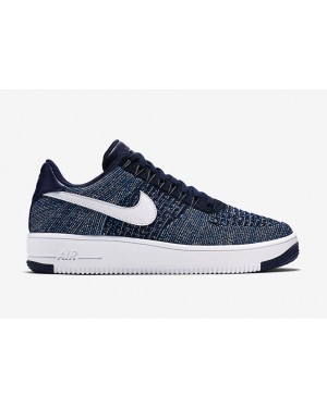 Nike Air Force 1 Flyknit Low (Azul claro/Navy/Blancas) 817419-400