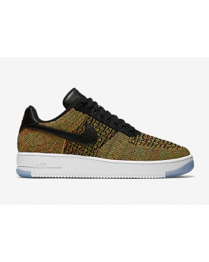 Nike Air Force 1 Flyknit Low (Multicolor/Negras/Blancas) 817419-700