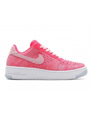 Nike Mujer Air Force 1 Flyknit Low (Fuchsia Glow/Blancas/Rosas) 820256-601