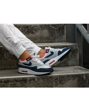 Nike Air Max 1 (Blancas/Navy-Pure Platinum) 319986-116