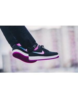 Nike Air Force 1 '07 Premium (Negras/Active Fuchsia-Azul) AT4143-001