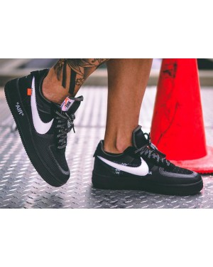 Off-White x Nike Air Force 1 Low (Negras/Blancas-Cone) AO4606-001