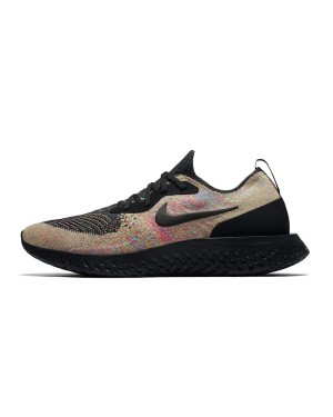 Nike Epic React Flyknit (Negras/Volt-Azul) AT6162-001