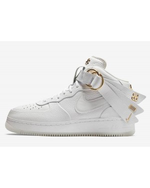 Nike Air Force 1 Mid Victor Cruz (Blancas/Oro metalizado) AO9298-100