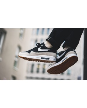 Nike Air Max 1 (Negras/Light Bone-Blancas) AH8145-009
