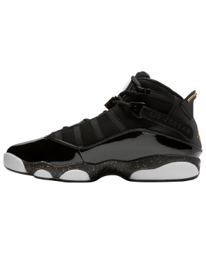 Air Jordan 6 Rings (Negras/Metallic Gold/Blancas) 322992-007