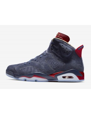 Air Jordan 6 Doernbecher (Navy/Blancas/Rojas/Metallic Gold) CI6293-416